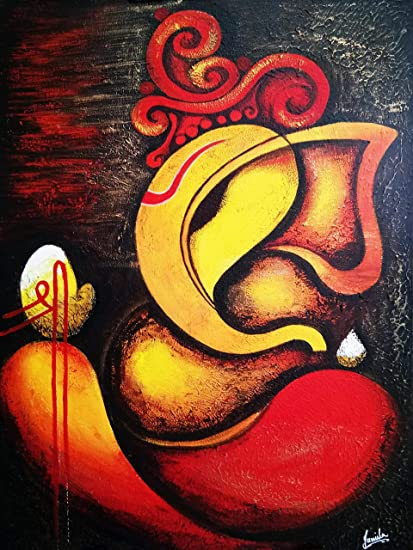 The Concept Store Original Handmade Painting Lord Ganesha Painting