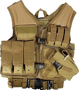 USMC Einsatzweste Tactical Weste mit Koppel - verschiedene Farben zur Auswahl  Farbe Coyote