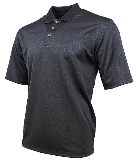 93136a3a Kirkland Signature Mens Moisture Wicking Performance Polo (Medium, Black  Textured)