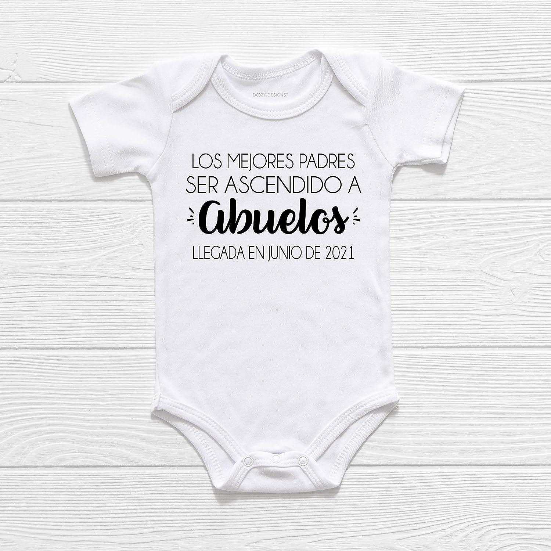 Pregnancy Announcement Grandparents bodysuit baby number bodysuit Personalized Pregnancy Baby Shower Gift Unisex bodysuit