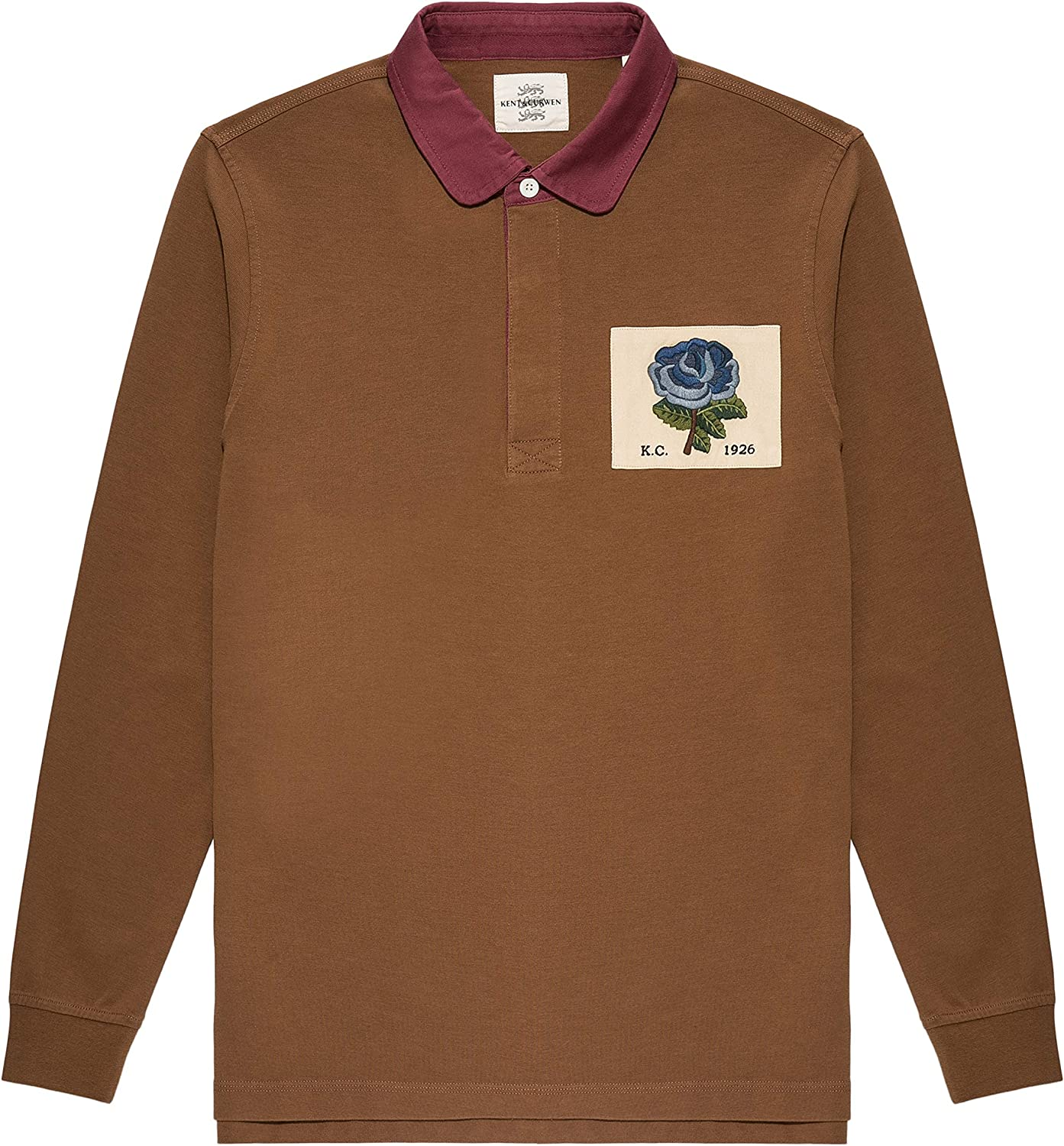 Kent Curwen Rose Of England Patch Rugby Polo At Amazon Men S Clothing Store