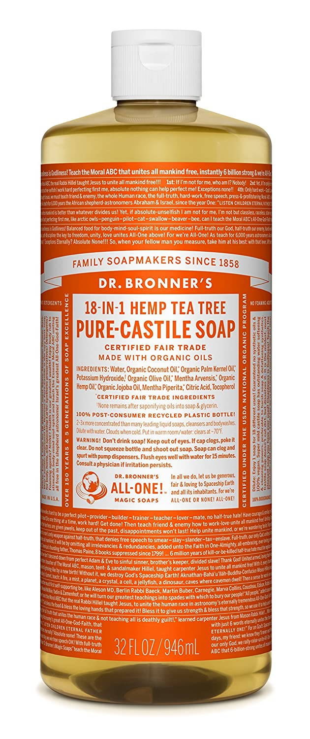 Dr. Bronner's Magic Soap Organic Tea Tree Oil Pure Castile Soap Liquid, 944-Milliliter Dr. Bronner' s Magic Soap 782