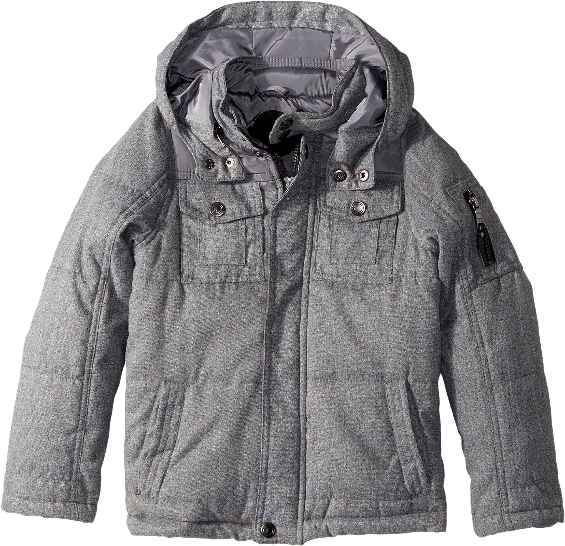 Urban Republic Kids Boy's Wool-Look Jacket (Little Kids/Big Kids) Grey 5-6