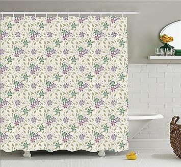 Amazon Com House Decor Shower Curtain Set Flower Grass Abstract
