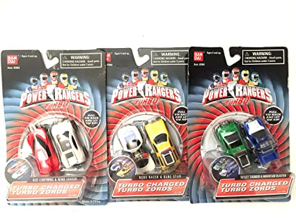 Power Rangers Turbo - Turbo Charged Turbo Zords Complete set
