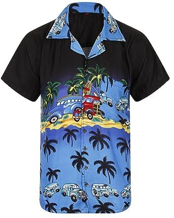 9b08dcd79c8 Hawaiian Shirt Loud Mens Aloha Hawaii Holiday Beach Stag Summer Palm Tree  Party Caribbean Classic Car Collection Short Sleeve 4 Colours New S M L XL  XXL  ...