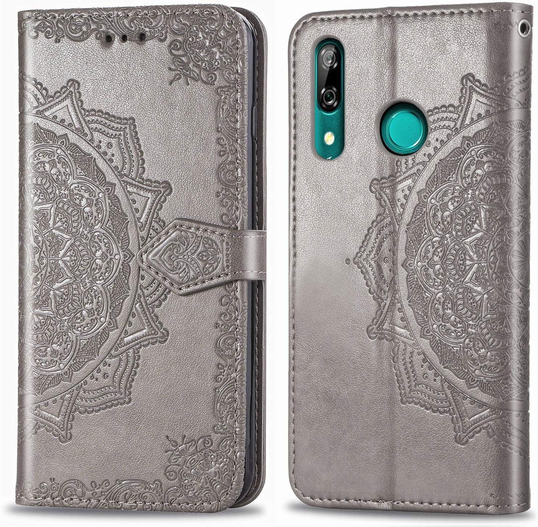 Billetera PU Cuero Funda para Huawei P Smart Z Cierre Magn/ético MRSTER Funda Compatible con Huawei P Smart Z Funci/ón de Soporte SD Mandala Purple PU Cuero Flip Folio Carcasa