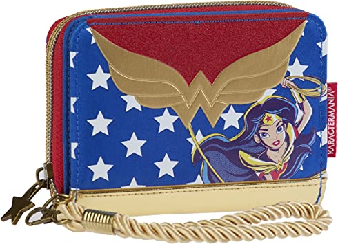 Karactermania DC Super Hero Girls Wonder Woman Monedero, 12 cm, Azul: Amazon.es: Equipaje