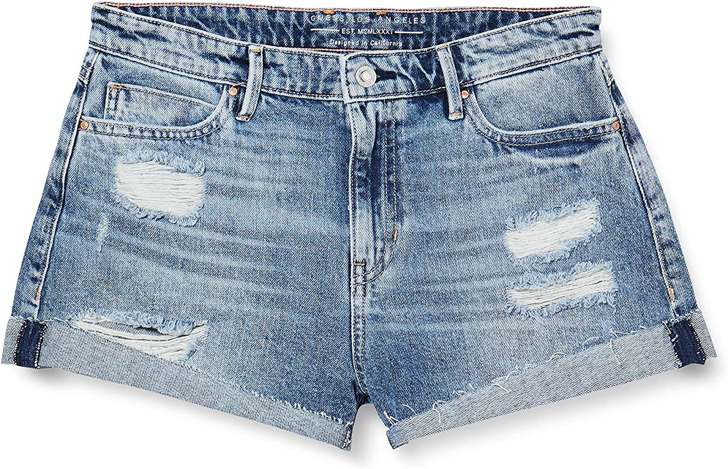 Guess Gemma Short Pantalocini Denim Donna