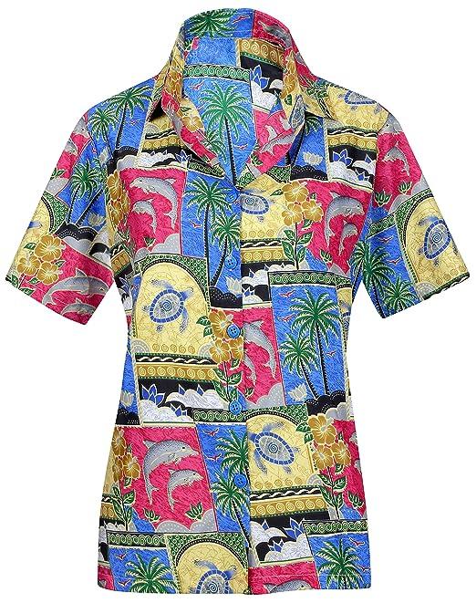8cd018648 Camisa de la Tapa del Collar Hawaiano para Mujer Ropa de Playa Desgaste  Fresco Manga Corta Tirantes Se Oras  Amazon.es  Ropa y accesorios