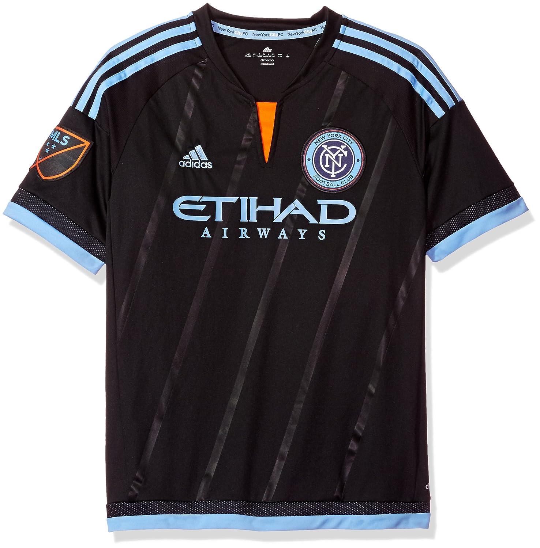 cheaper 243ed 5f330 Amazon.com: adidas New York City FC Away Jersey Youth, Black ...