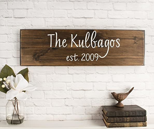 Amazon.com: Personalized Family Name Sign Personalized Wedding Gifts ...