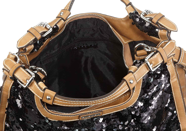 Penelope 46851, Damen, Schultertaschen, Schwarz (black), 38x31x13 cm (B x H x T) Sisley