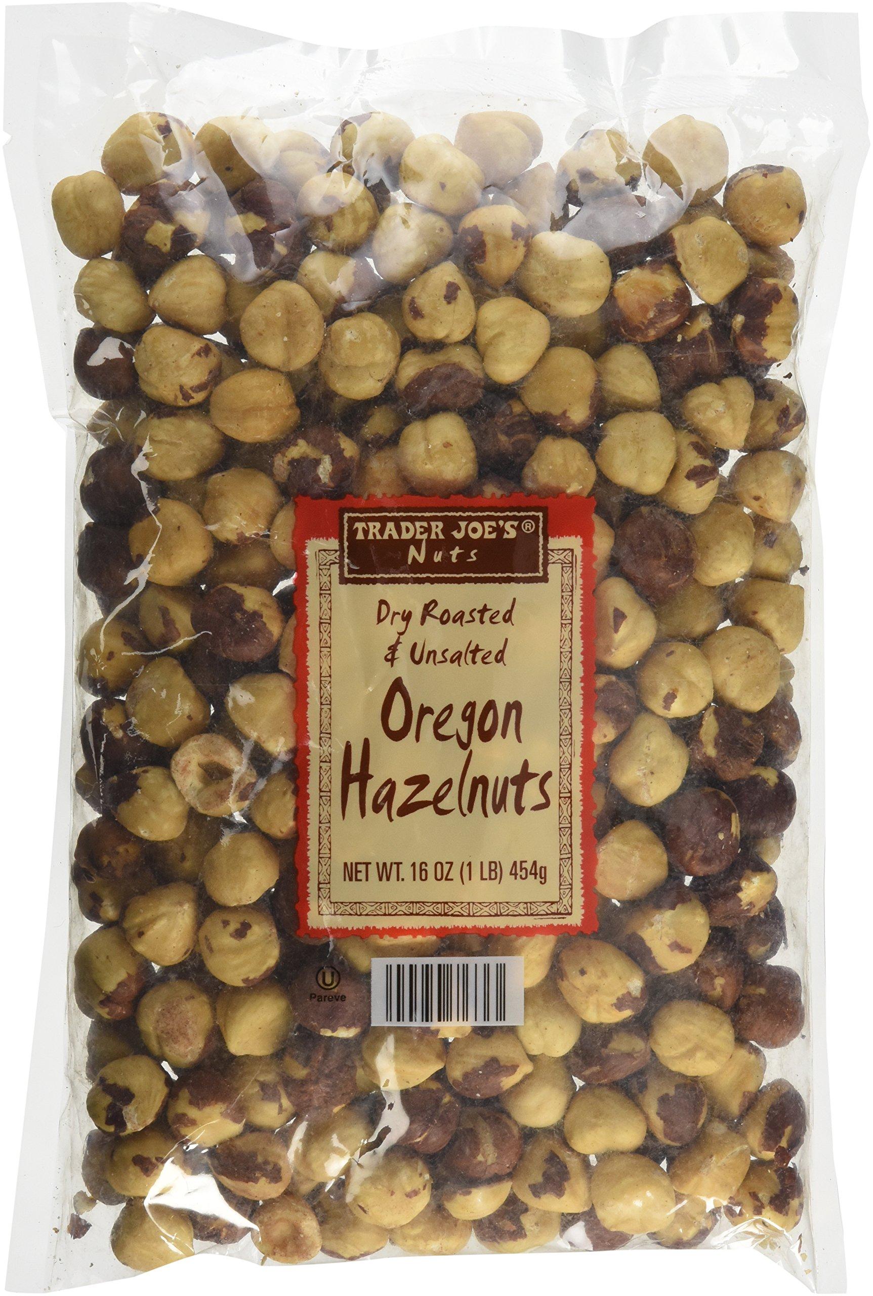 Trader Joe's Nuts Oven Roasted & Unsalted Oregon Hazelnuts - 16oz Set of 2