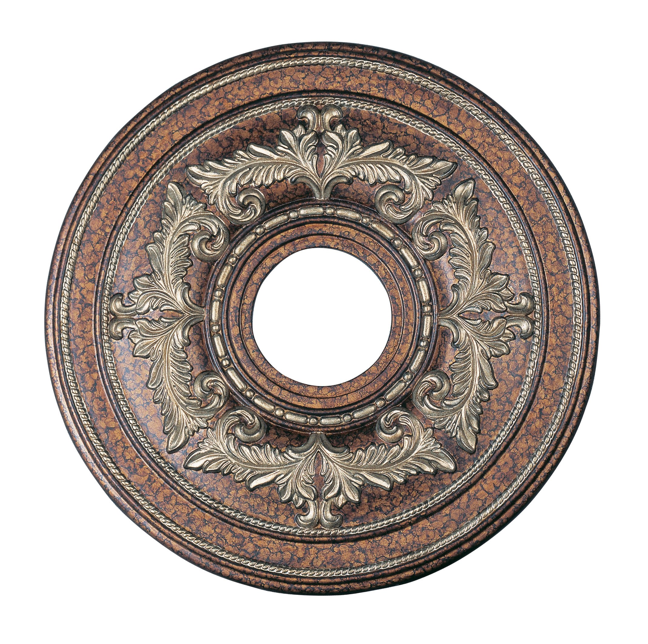 Livex Lighting 8205-64 Ceiling Medallion in Palacial Bronze with Gilded Accents
