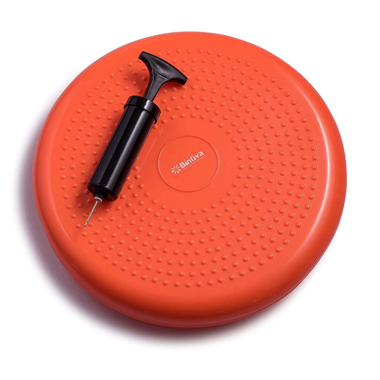 Including Free Pump//Exercise Fitness Core Balance Disc Including Free Pump bintiva Inflated Stability Wobble Cushion 13 inches 33 cm diameter Exercise Fitness Core Balance Disc Blue size