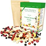 Freeze Dried Fruit: 9 Delicious Fruits Strawberry, Blueberry, Raspberry & More. 142g (5oz) Large Bulk Re-Sealable Kraft…