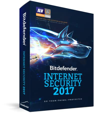 Bitdefender Internet Security 2017 | 3 PC, 1 Year | Download [Online Code]
