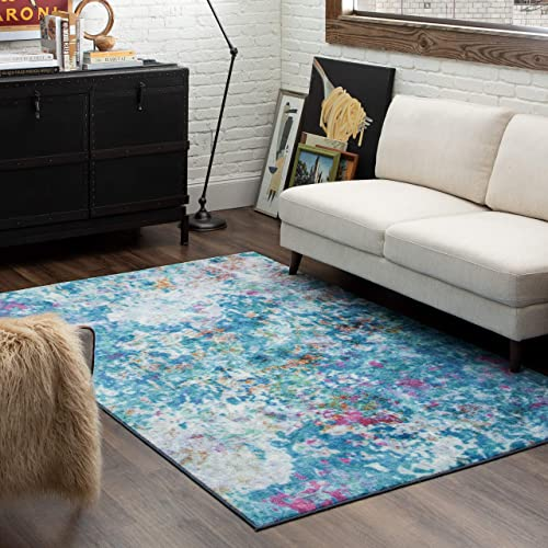 Mohawk Home Art Explosion Multicolored Abstract Marble Precision Printed Area Rug