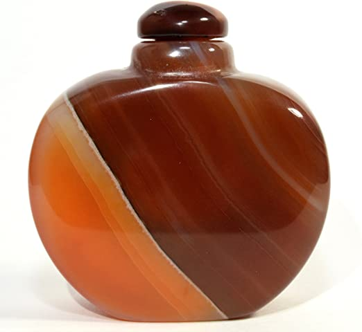 Antique Chinese Rare Collectible Natural agate Snuff Bottle Natural Stone
