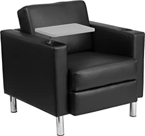Flash Furniture Leather Tablet Chair, Black LeatherSoft