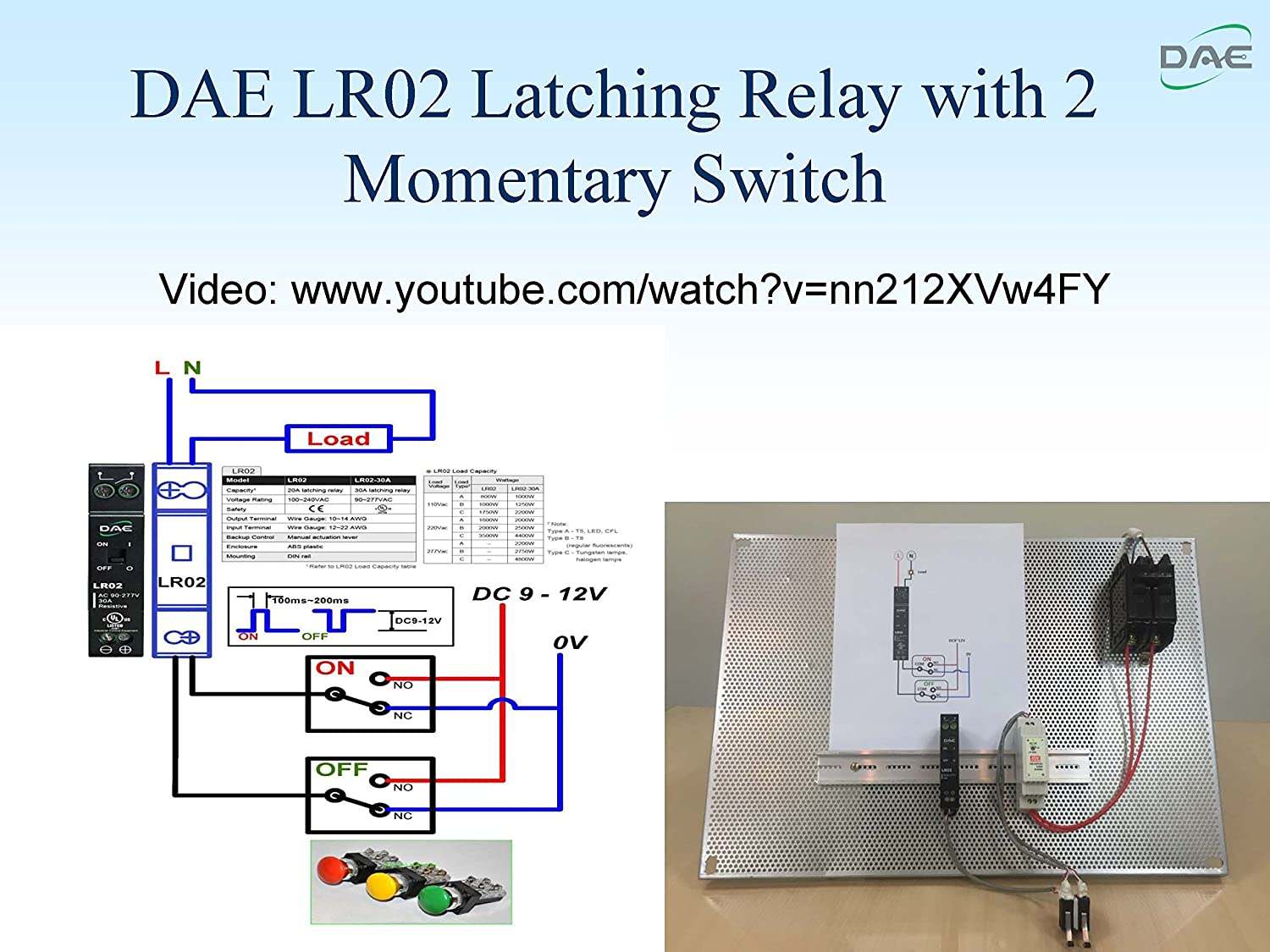 Dae Lr02 30a Ul Listed Latching Relay Industrial Diagram Scientific