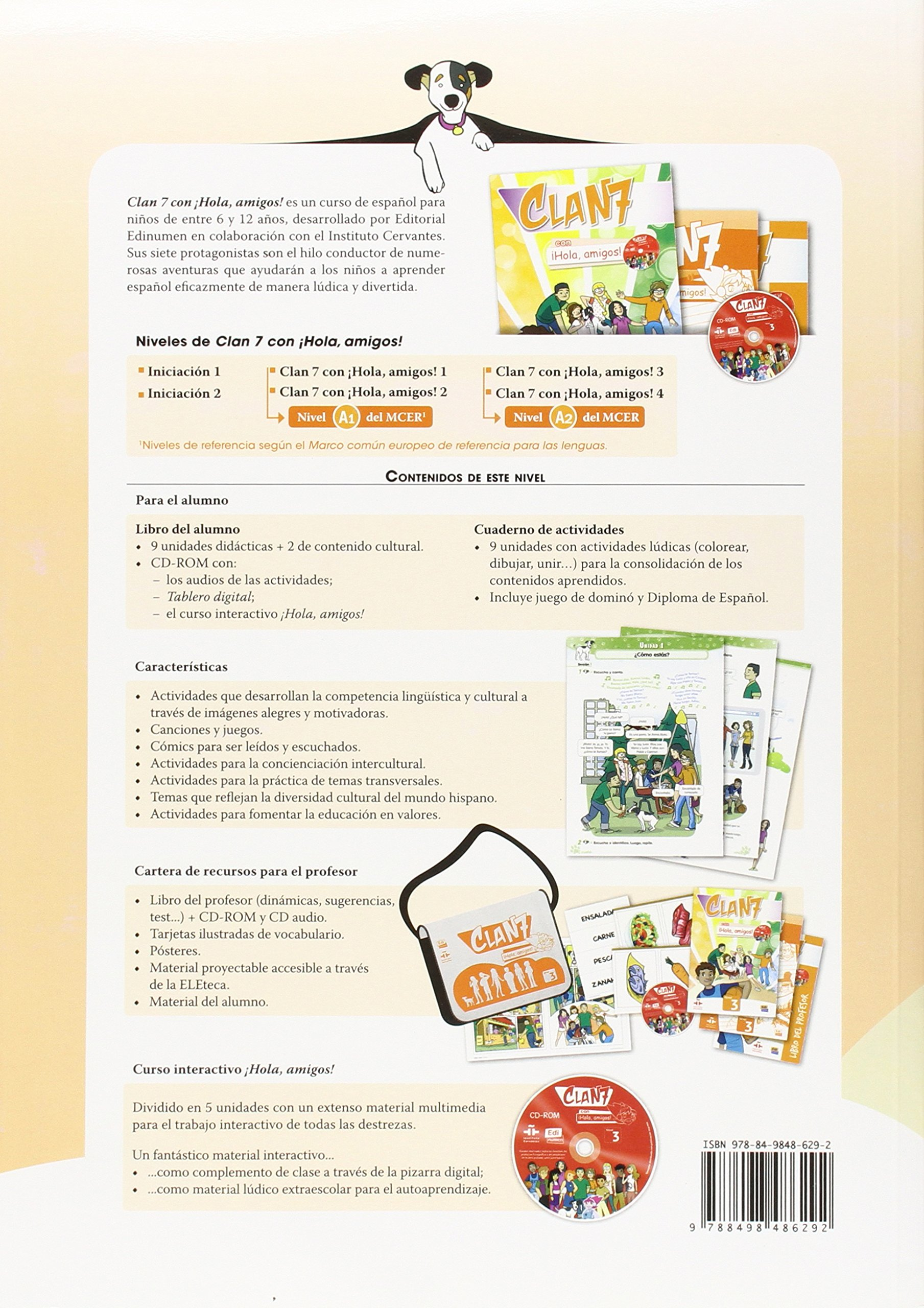 Clan 7 con Hola Amigos 3 : Tutor Book: Libro del Profesor: Amazon.es: Equipo Edinumen: Libros