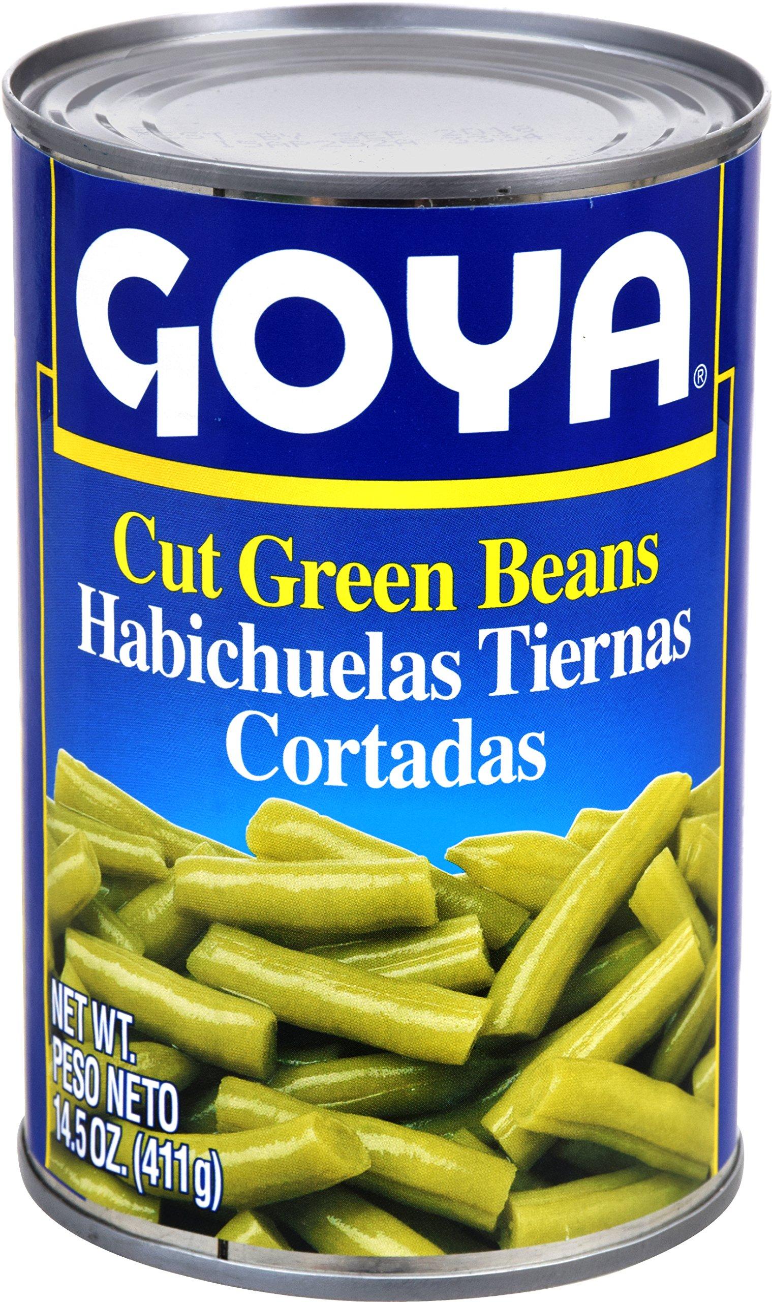 Goya Foods Cut Green Beans, 14.5-Ounce (Pack of 24)