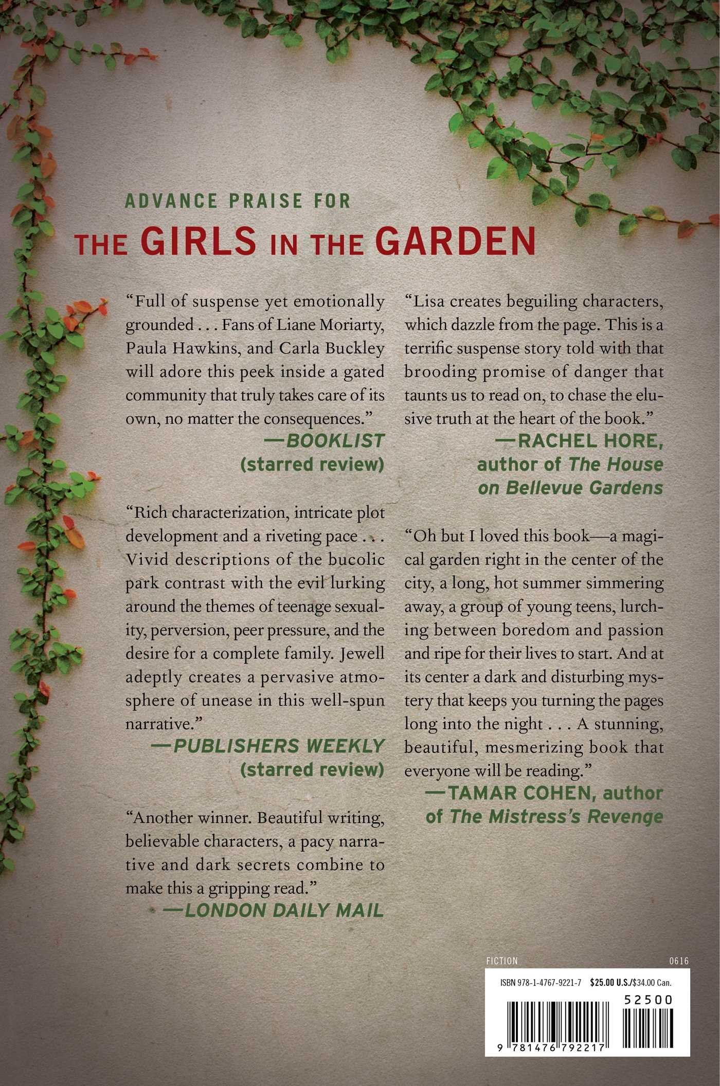 the girls in the garden amazoncouk lisa jewell 9781476792217 books - The Girls In The Garden