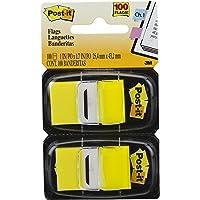 Marcador de Página Adesivo Post-it Flags Amarelo 25,4 mm x 43,2 mm - 100 folhas
