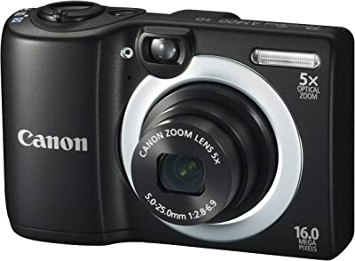 Canon PowerShot A1400 16.0 MP Digital Camera with 5x