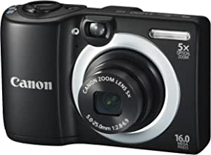 Canon PowerShot A1400 16.0 MP Digital Camera with 5x Digital Image Stabilized Zoom 28mm Wide-Angle Lens and 720p HD Video Recording (Black) (OLD MODEL)