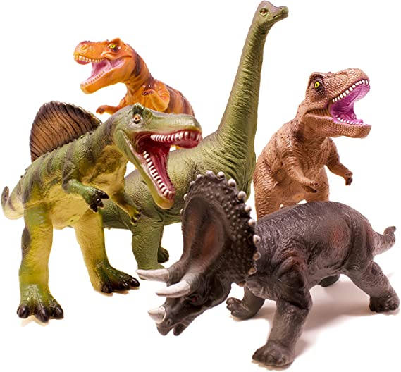 Boley 5 Piece Jumbo Dinosaur Set - Highly Detailed, Realistic Toy Set for Dinosaur Lovers