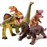 Boley 5 Piece Jumbo Dinosaur Set - Kids, Children, Toddlers Highly Detailed, Realistic Toy Set for Dinosaur Lovers - Perfect