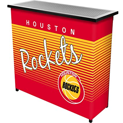 NBA Houston Rockets Portable Bar with Case, One Size, Black