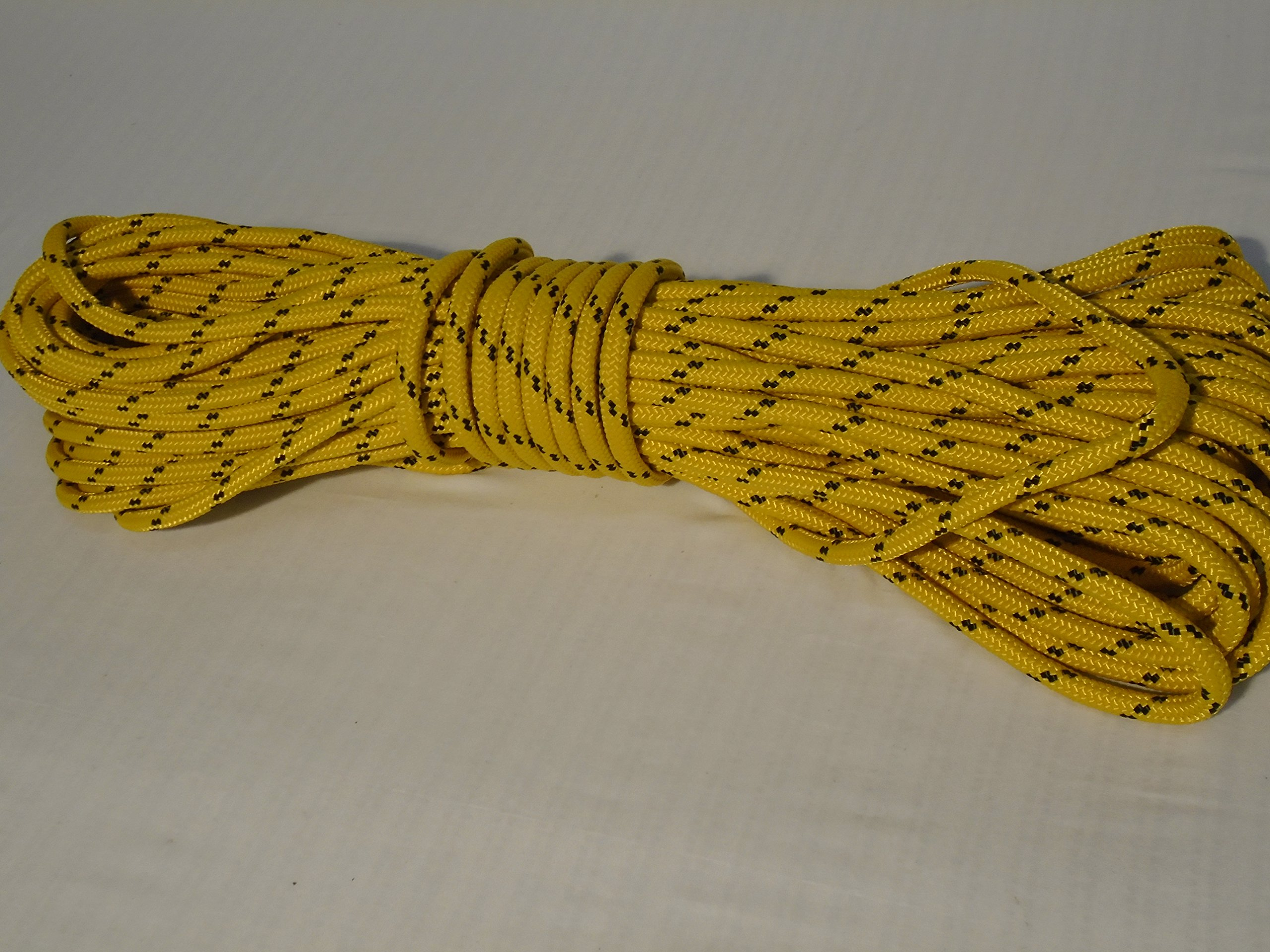 Blue Ox Rope 5/16'' by 100' Gold Double Braided Polyester Halyard Line