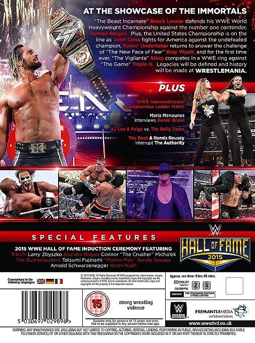 WWE: WrestleMania 31 [DVD] [Reino Unido]: Amazon.es: John Cena ...