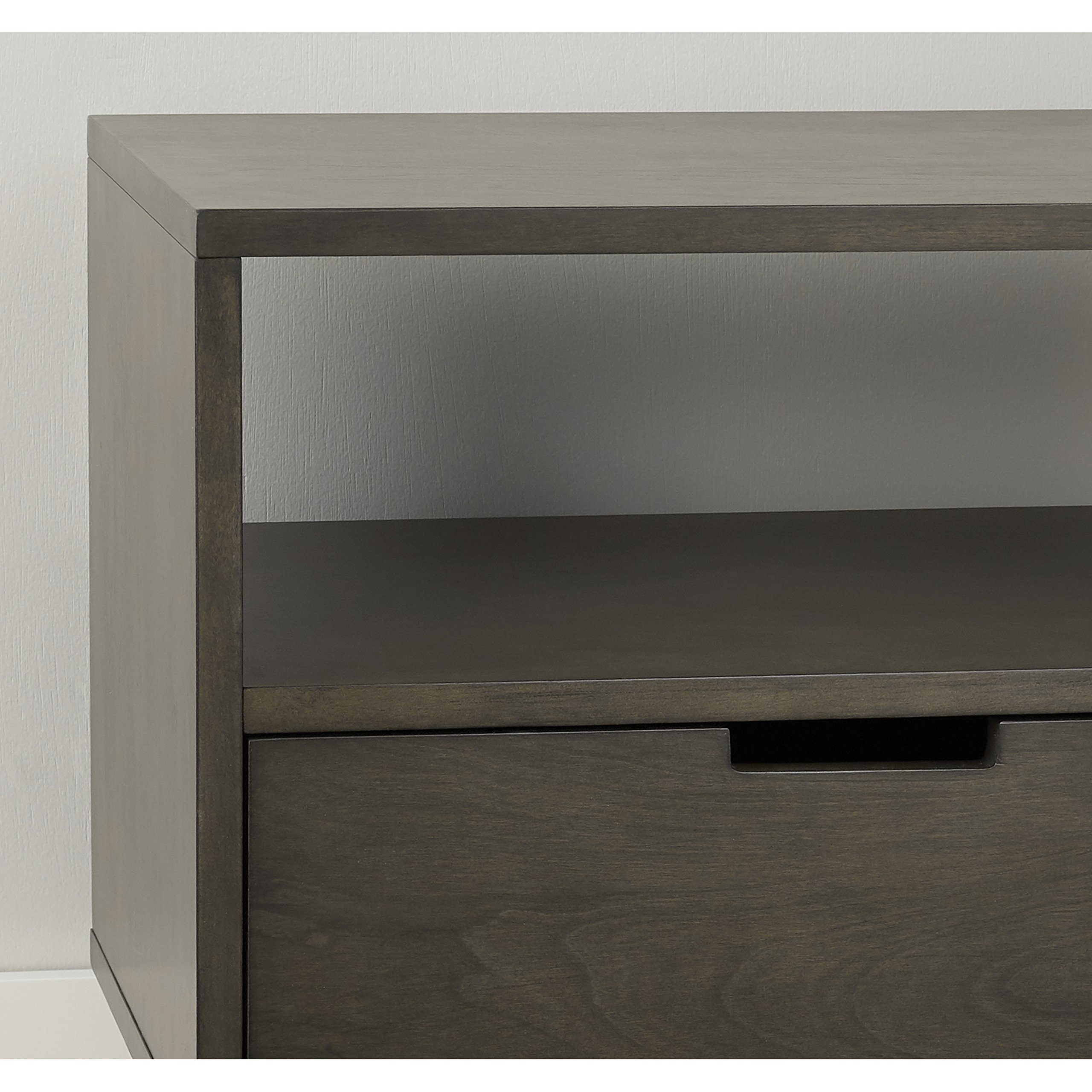 Better Homes and Gardens Flynn Mid Century Modern Credenza, Smoke Gray by Better Homes and Gardens (Image #4)