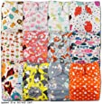 LittleBloom, Reusable Pocket Cloth Nappy, Fastener: Popper, Set of 12