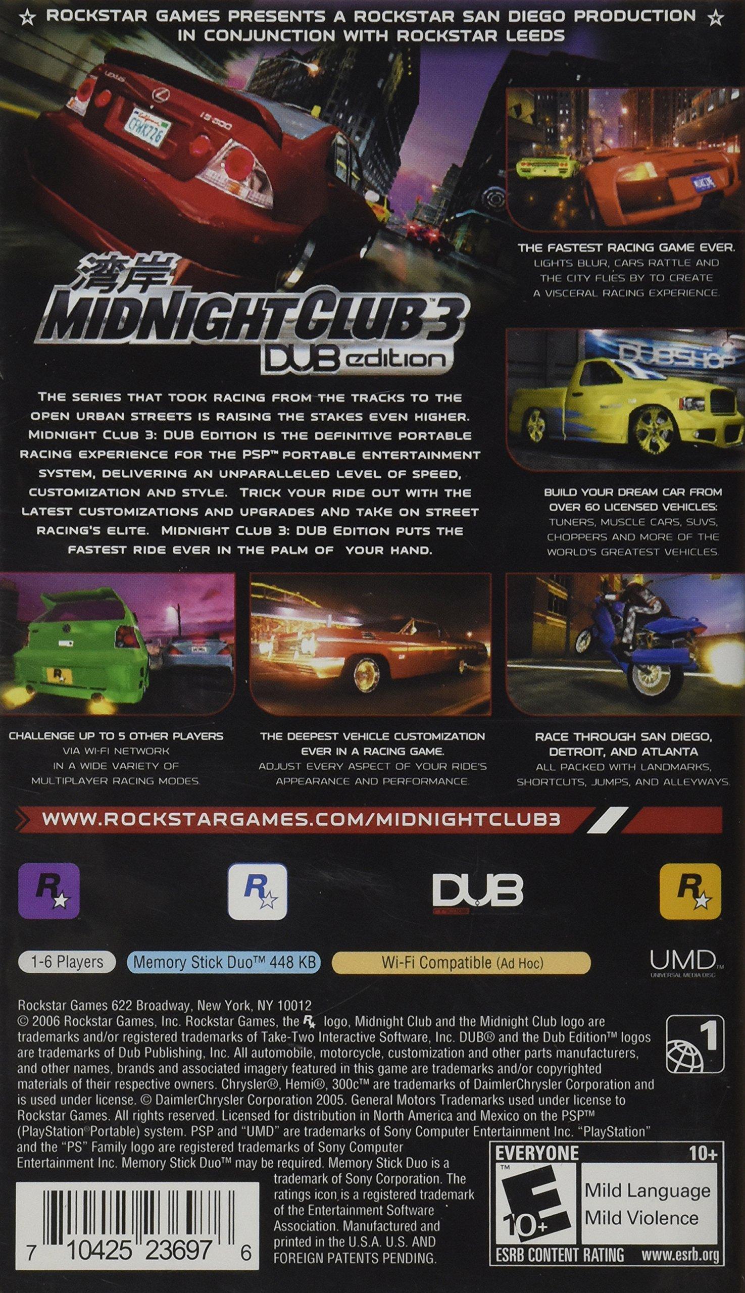 Midnight Club 3, Dub Edition, Sony PSP by Rockstar Games (Image #2)