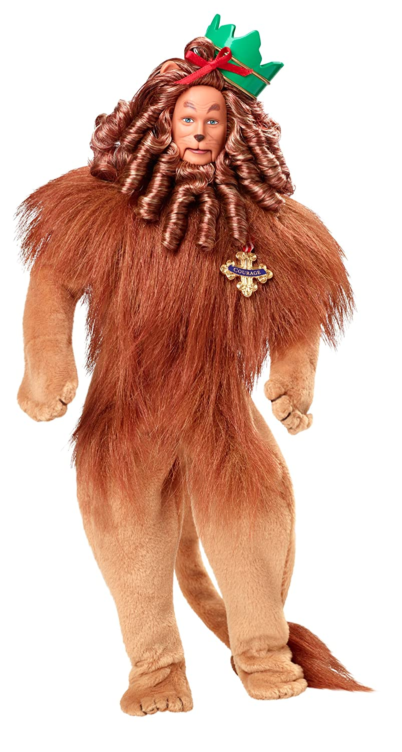 Amazon.com: Barbie Collector Wizard Of Oz Cowardly Lion Doll: Toys ...