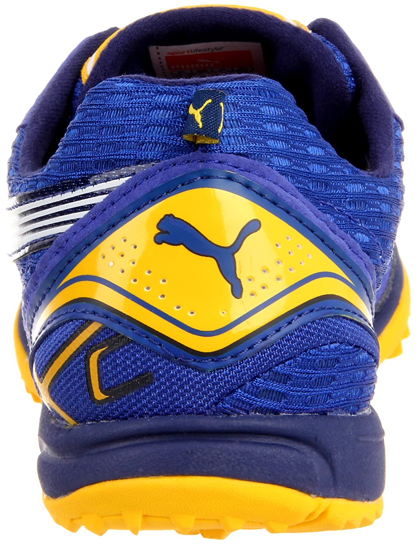 Amazon.com   Puma Complete Haraka XCS Track Shoe, Surf the Web/Yellow/Blue,  4 D US   Track & Field & Cross Country