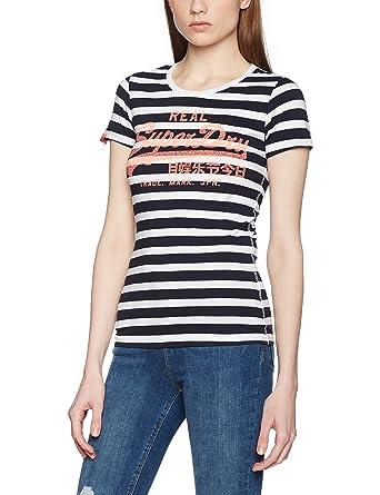 d1a6110ed5 Superdry Damen T-Shirt Vintage Logo Stripe: Amazon.de: Bekleidung