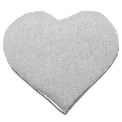 Saquito térmico en corazón 30x25 blanco | Almohadilla ...