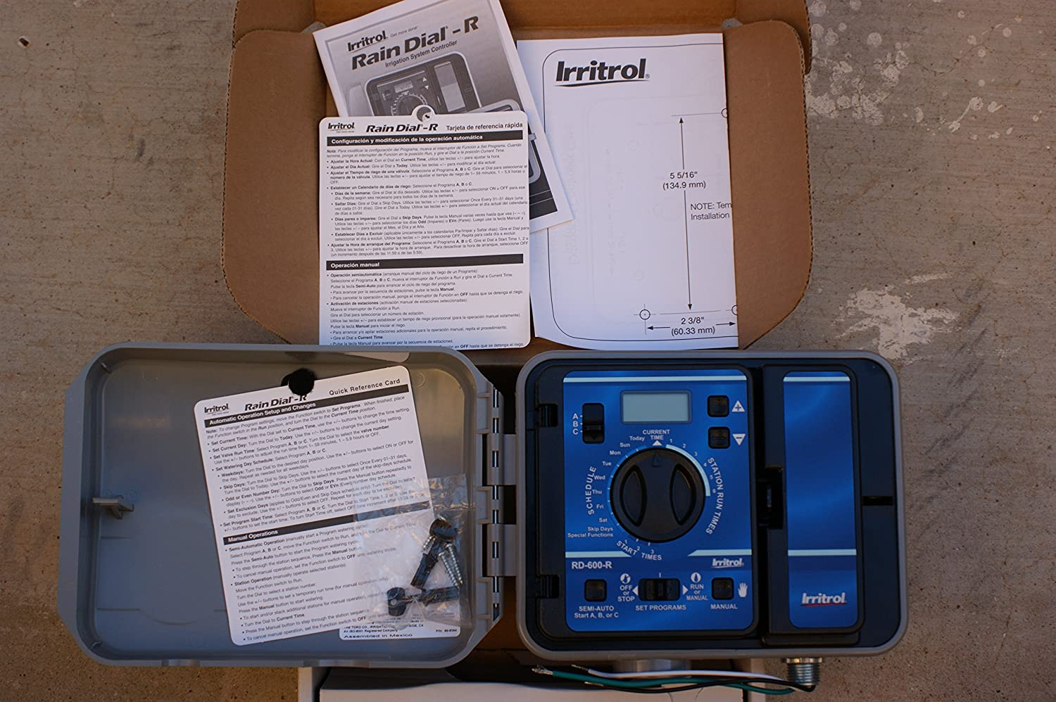 Irritrol RD600-EXT-R Rain Dial 6 Station Outdoor Irrigation Controller : Lawn And Garden Sprinklers : Garden & Outdoor