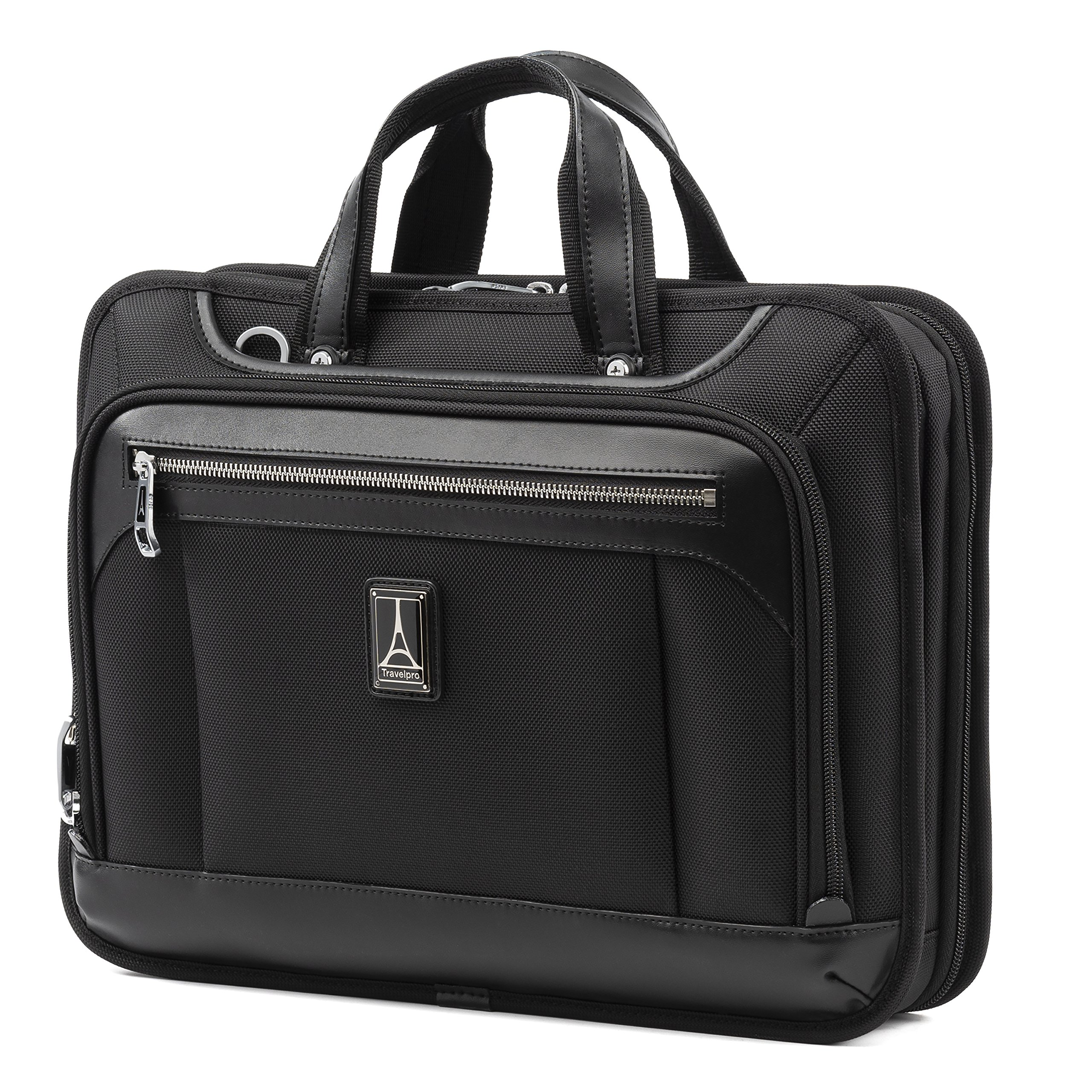 Travelpro Luggage Platinum Elite 16'' Carry-on Slim Business Computer Briefcase, Shadow Black, One Size