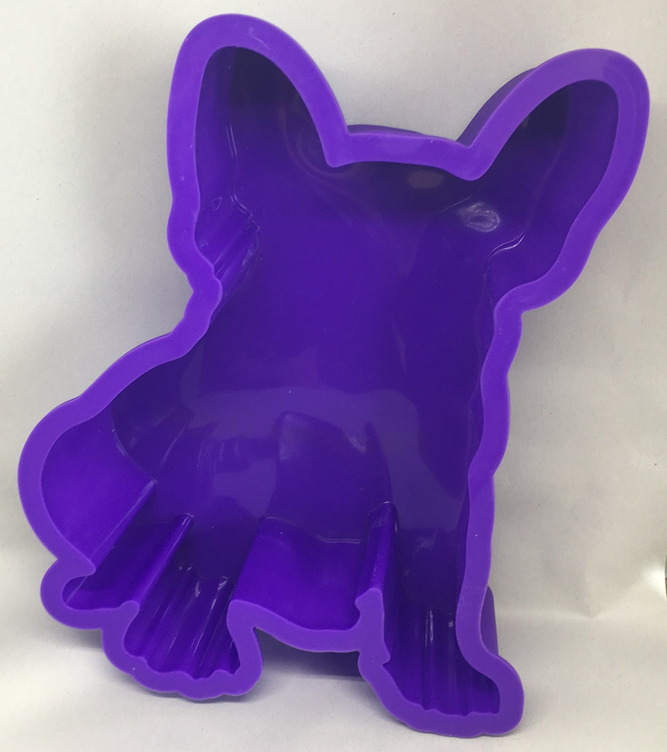 French Bulldog Boston Terrier Dog Birthday Cake Pan Silicone Purple Large