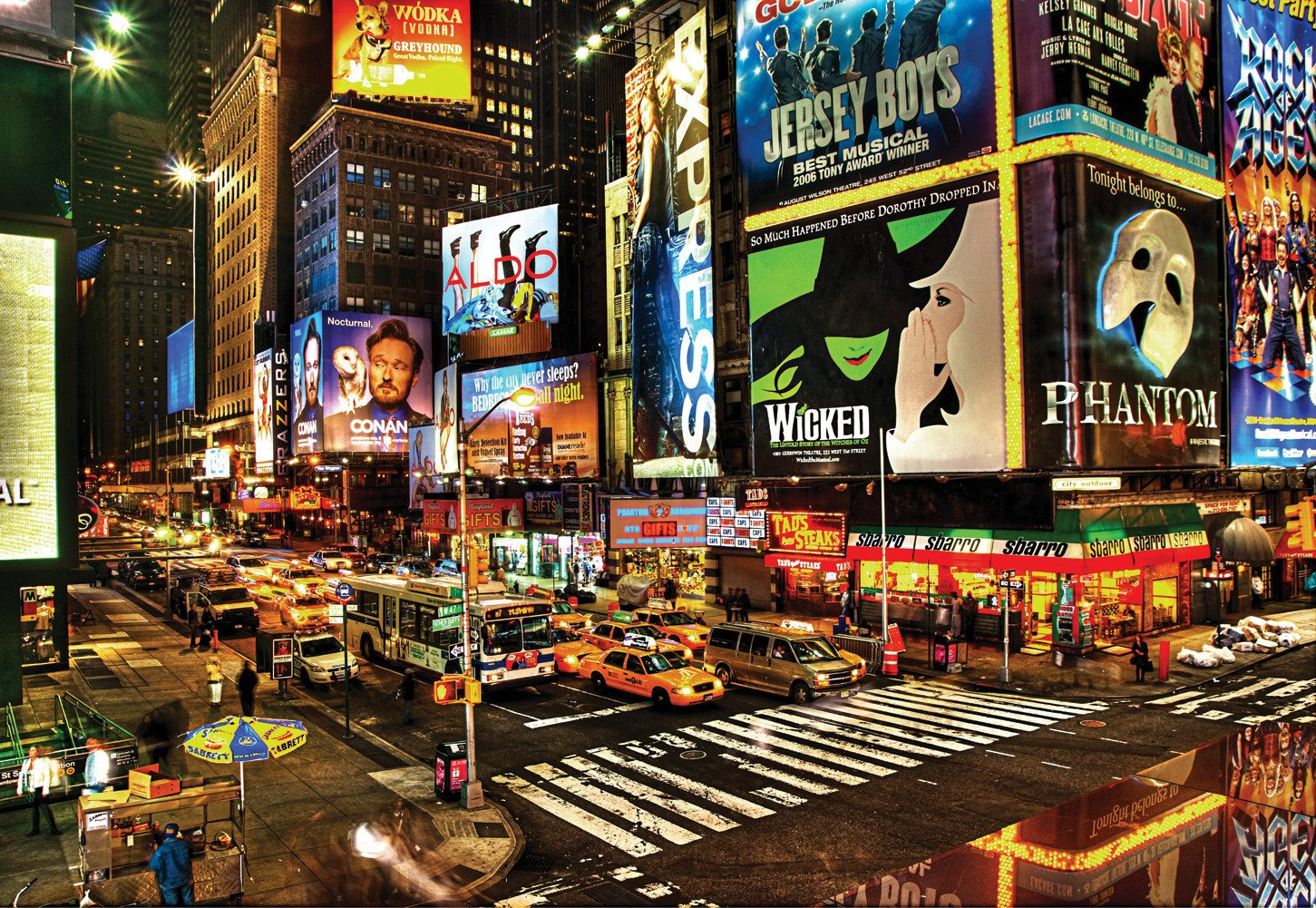 CHOIS Custom Wall Murals Wallpaper Desinger Home Art Decor WM1040 City Of  New York United States Broadway Night Lights Cars Billboards, 145 Inch By  100 Inch ... Part 66