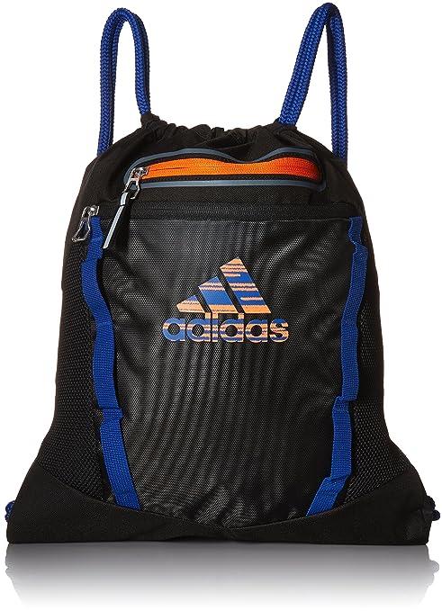 : adidas rumble ii sackpack, nero / collegiale royal / orange
