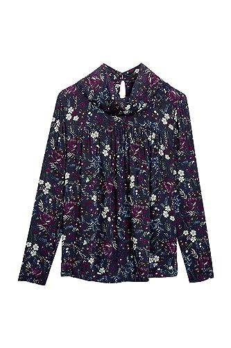 next Mujer Blusa con Cuello Desbocado Estampado Floral EU 36 Tall (UK 8T)